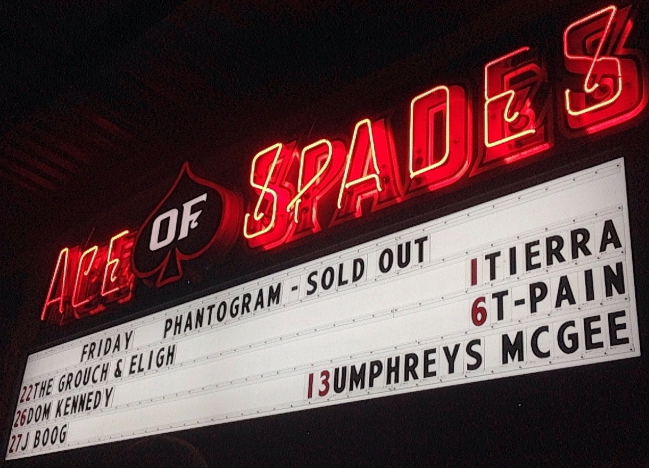 Ace of Spades Marquee